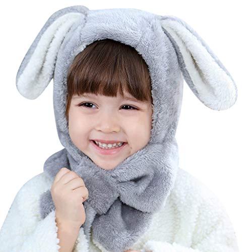 Y56 Winter Warm Plüsch Hut Mütze Beanie Cap Schal Set Neugeborenes Kleinkind Kinder Mädchen Jungen Baby Pom Hut Kappen Häkelstrick Wintermütze (A)