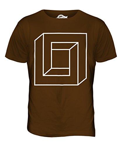 CandyMix Quadrat Unmögliche Herren T Shirt Braun