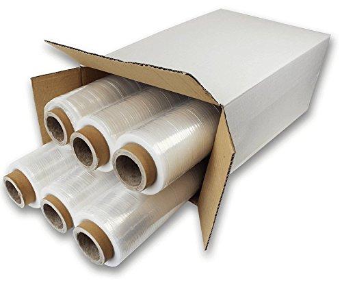 Pellicola Film estensibile manuale x6, trasparente, spessore 23 my, 2,2Kg, altezza 500 mm, Ø int. 50 mm