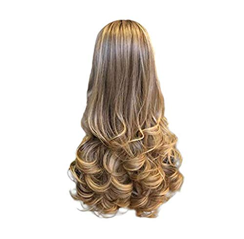 Waselia lockige perücke lang - perücke haar extension lang langhaar haarverlängerung haarteile synthetische cosplay wig haarteil, frauen damen wigs lockig blond für karneval fasching party kostüm -