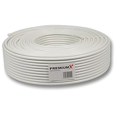 135dB 50m PremiumX Basic Pro Koaxial SAT Kabel 5-fach geschirmt Koaxialkabel Antennenkabel für 4K Ultra HD | DVB-S / S2 | DVB-C | DVB-T | BK