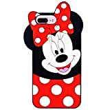 Leosimple - Coque Minnie pour iPhone, Silicone, iPhone 8/7/6/6s Plus Minnie, iPhone...