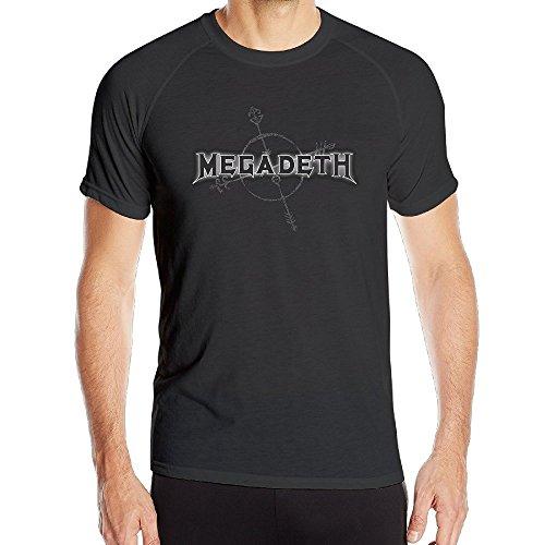 T&Tat Men's Megadeth Band Arrow Logo Quick Dry Athletic Tshirt...