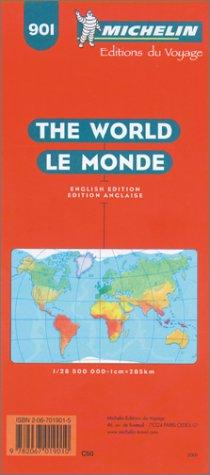 Monde (en anglais). Carte numéro 901, échelle 1/285000000 par Michelin Travel Publications