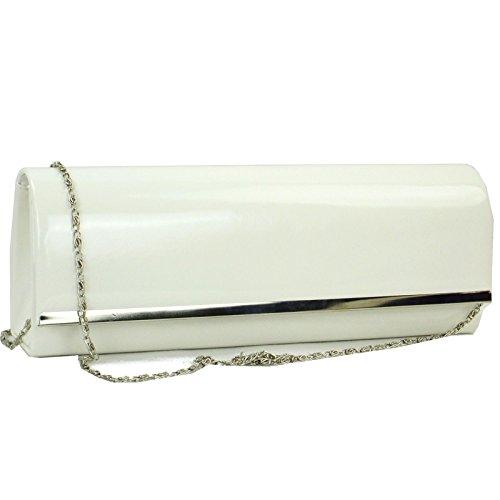 Zarla Custodia Patent-Borsa da donna, per abiti da sera Sera UK Bianco (bianco)