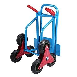 41M3MZ8%2BCgL. SS300  - sweepid Escaleras Tranvía carretilla con ruedas plegable para subir escaleras de mano carro carretilla Tranvía Soporta hasta 200kg