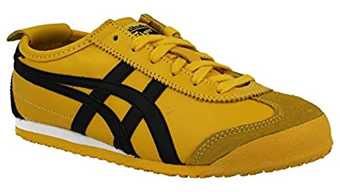 Asics Mexico 66, Chaussures de Running mixte adulte, Multicolore (Yellow/black), 37 EU