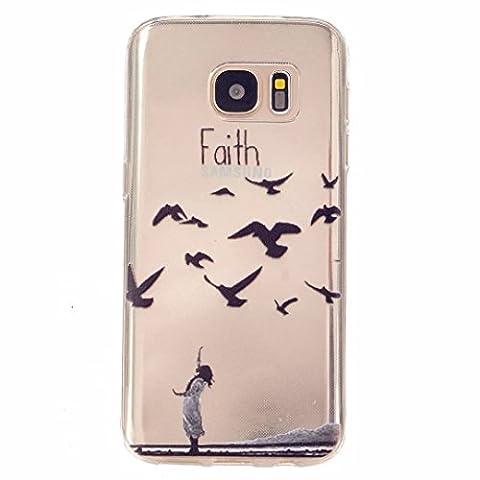 MOTOUREN Coque pourSamsung Galaxy S7 Pouces Smartphone Gel TPU Bumper Téléphone Silicone Étui Housse Cas Cover Protecteur - foi