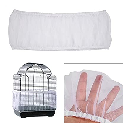 UEETEK Birdcage Guard Cage Protector Skirt Seed Catcher White Medium Size 2