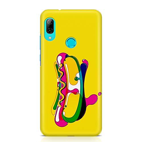 ItalianCaseDesign Cover Custodia Protettiva Case Hot Dog Cibo Panino Disegno Pennello Acqua Stile Compatibile con Huawei P Smart 2019 - P Smart+ 2019 - Honor 10 Lite (Seleziona Modello)