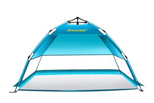 alvantor UV 50 + stabil Easy Up Schnell Cabana 2–3 Personen blueshore Beach Zelt Regenschirm, Blaugrün, Regular