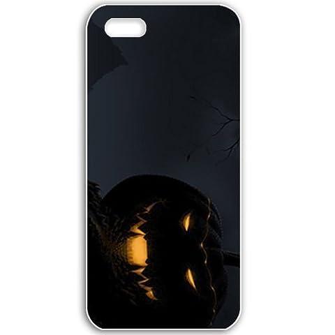 Apple iPhone 5 5S Cases Customized Gifts For Holidays Jack O Lantern Celebrations Holiday White