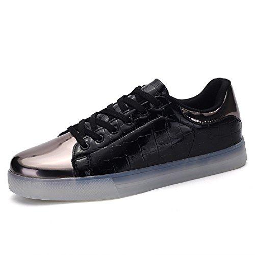 BOMOVO - Chaussures de sport - Baskets Lumineuses Led - Unisexe Adulte Noir