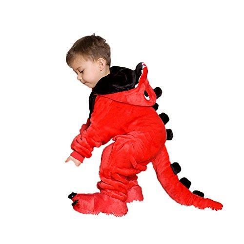 esie Flanell Pyjamas Jumpsuits Nachtwäsche Cosplay Kostüm Mit Schuhen (L(Geeignet für 116cm-125cm Höhe)) ()