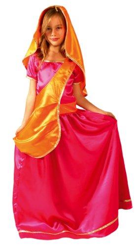 Cesar-F233-Kostüm-Bollywood-Prinzessin, Sari mit Gürtel