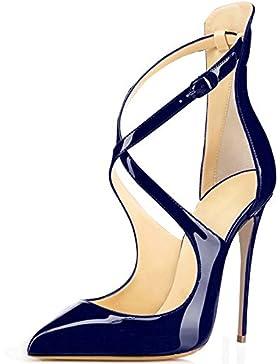 ELASHE- Scarpe da Donna - Scarpe col Tacco - Classiche Scarpe col Tacco -  Talloni 9b902bda108