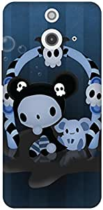The Racoon Grip Spooky hard plastic printed back case / cover for HTC One (E8)