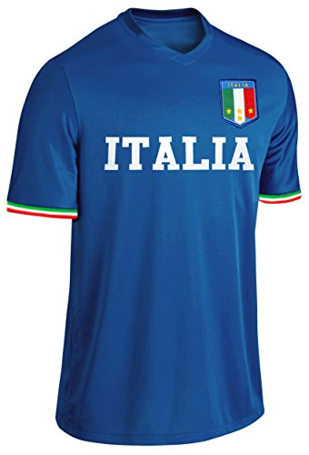Italien Trikot Fußball Fan Trikot Blau Größe M