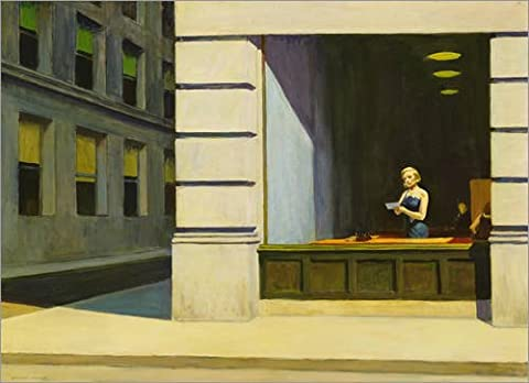 Alu Dibond 40 x 30 cm: Büro in New York von Edward Hopper