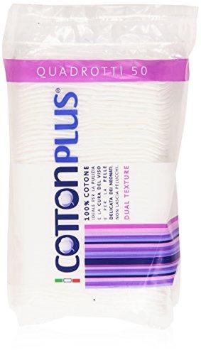 Cotton Plus - 50 disques en coton 100 % coton hydrophile Texture double