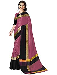 Amiga Women's Cotton Silk Party Wear Saree With Blouse (Free Size_More Colored)