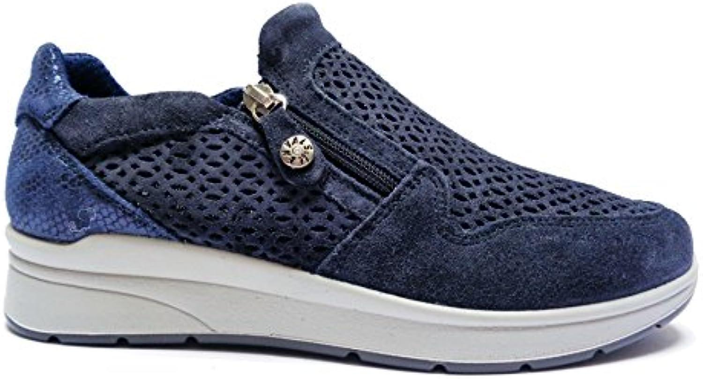 Donna   Uomo ENVAL scarpe da ginnastica Donna Pelle Blu Elaborazione fine Usato in durabilità un sacco di varietà | Essere Nuovo Nel Design  | Uomini/Donna Scarpa