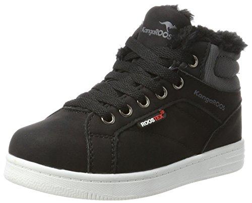KangaROOS Unisex-Kinder Vuka Hohe Sneaker, Schwarz (Jet Black), 38 EU
