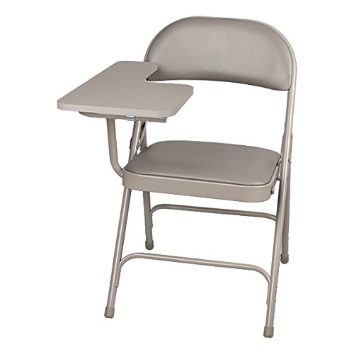 School Outfitters NOR-SRO593-TA-VGR-SO Norwood Commercial Furniture 6600 Series Vinyl Padded Folding Chair with Tablet Arm (Pack of 2) (Chair Arm Folding)