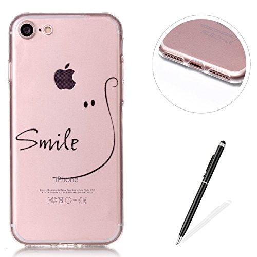 iPhone 5/5S case, Magqi cover posteriore di protezione in silicone, resistente ultra sottile in gel TPU custodia bumper [Crystal Clear] con design alla moda stile Sockproof anti-scratch Drop protezion Smile