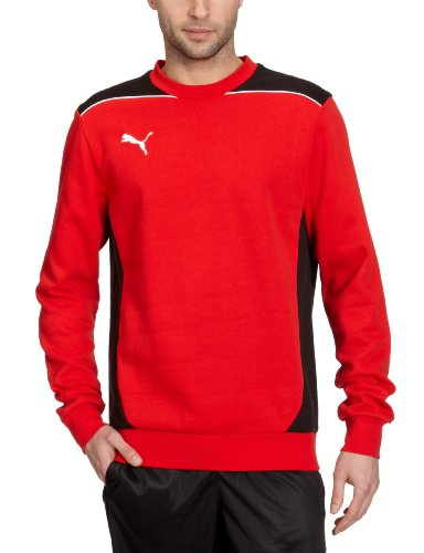 PUMA Herren Sweatshirt Foundation Sweat Red/Black, S