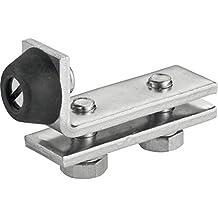 Sehr gute Qualit/ät ABO Schiebet/ürbeschlag-Set mit 200 cm Alu-Laufschiene Komplettset Schnelle Lieferung Made in Germany