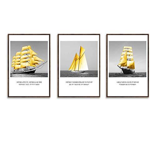 Cxmm Fotorahmen, Bilderrahmen Set 3 Panel Wandkunst Bilder, hängen Dekorative Kunst Für Wohnzimmer Schlafzimmer Schönes Geburtstagsgeschenk/Geschenk, Ausgezeichnete Wandfüller, 6 Stil (Farbe: D -