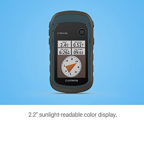 "Garmin ETREX 22x - Navigatore portatile a colori da 2,2"" e mappa TopoActive preinstallata"