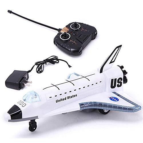 Kikioo 2.4g nuovi aeromobili in lega giocattoli sts-102 rc elettrico aereo aliante telecomando space shuttle aviazione civile airbus modello luci lampeggianti engine suoni regalo per bam