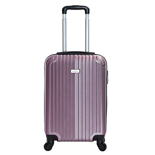 Slimbridge Borba maleta trolley cabina ABS - Equipaje de mano rígida y ligera con 4 ruedas. Aprobado por la mayoría de las aerolíneas Ryanair, EasyJet, Wizzair, Vueling y muchos más, Oro Rosa