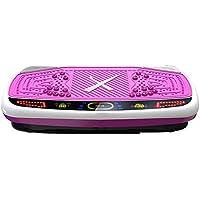 Preisvergleich für H&Y Fitness Vibrationsplatte - Crazy Fit Massage Fitness Oszillierende Vibration Power Plate - 99 Geschwindigkeit, 200W Silent Drive Motor, Griff mit Rad, 5 Übungsprogramme