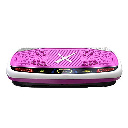 HY Placa de vibración de Fitness - Crazy Fit Massage Placa de Potencia de vibración oscilante de Fitness - 99 velocidades, 200W Silent Drive Motor, empuñadura con Rueda, 5 programas de Ejercicios