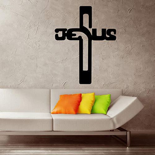 Christan gott kreuz wandkunst aufkleber aufkleber jesus christus psalm beten bibel schlafzimmer wandbild schlafzimmer a46 wangzhanping -