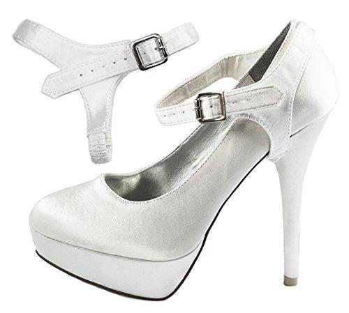Correas ShooStraps desmontables para zapatos, tacones altos, zapatos planos, zapatos de cuña Blanco...