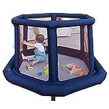 LYYXWL - Spielzaun Baby-Laufstall mit aufblasbarem Schlauch und Aufbewahrungstasche, tragbare...