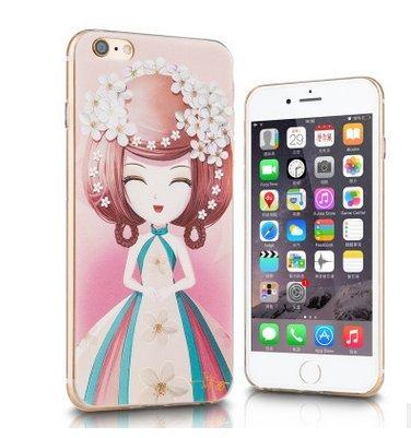 Cherry Blossom Princesse iphone6s/relief peint à la coque iphone 6Coque en TPU Housse de protection Coque souple en silicone avec une prise de la poussière