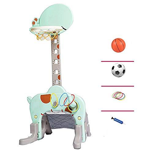 SUON 3 In 1 Basketballkorb Höhenverstellbar Von 60 Bis 145 cm Kinder Basketball-Ständer Innen Draussen Kind Spielzeug Schießen