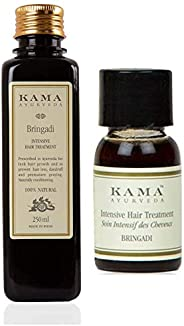 Kama Ayurveda Bringadi Intensive Hair Treatment Oil 8.4 Fl Oz, Bringadi Intensive Hair Treatment 8ml Combo