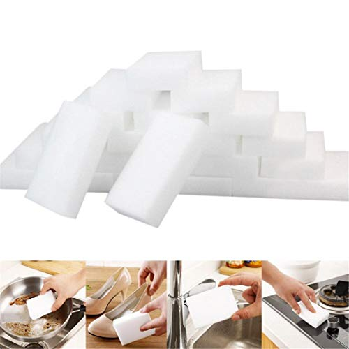 Happy Event 25St. Weißer Magic Sponge Radiergummi Reinigung Melamin-Schaumreiniger Küchenblock | White Magic Sponge Eraser Cleaning Melamine Foam Cleaner Kitchen Pad (Das Magic Eraser Für Auto)