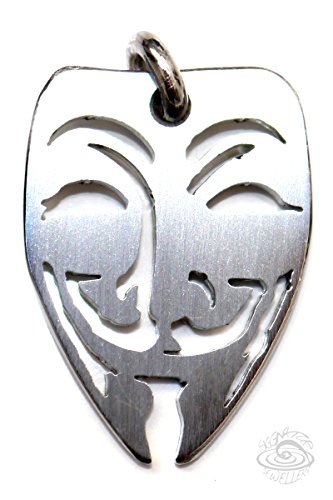 Siggnatur Jewellery Unisex-Accessoire Anonymous Guy-Fawkes Edelstahl Silber, Anhänger