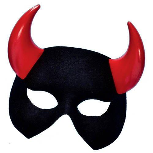 z mit roten Hörnern (Schwarze Und Rote Venezianische Maske Mit Hörner)