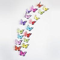Yogogo - Art Stickers muraux -18pcs Papillon 3D Chambre Design Decal magnétique - Home Decor