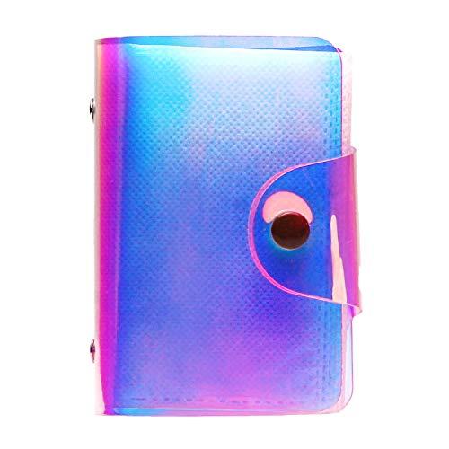 CAIUL Compatible Mini Billetera Foto Álbum Dedicado a Cámaras Fujifilm Instax Mini 9 8 90 70 7s 25 26 50s(20 Fotos, Ilusion Transparente)