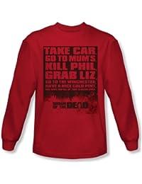 Shaun Of The Dead - Liste shirt manches longues pour homme en rouge -