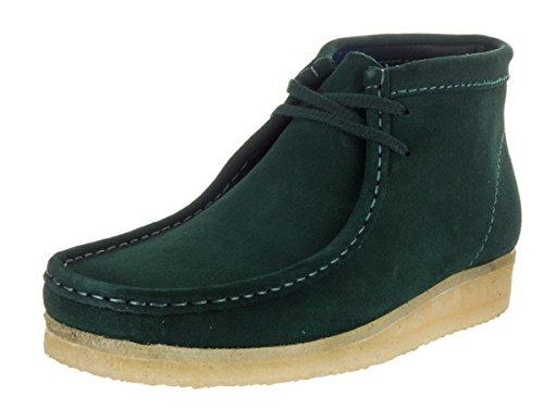 Clarks Herren Wallabee Stiefel Bronze Veloursleder, grün - grün - Größe: 39.5 -